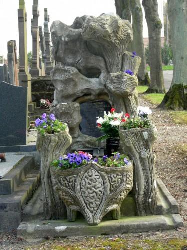 sépulture, amiens, cimetière du petit st jean, rocaille, tombe, place du mort