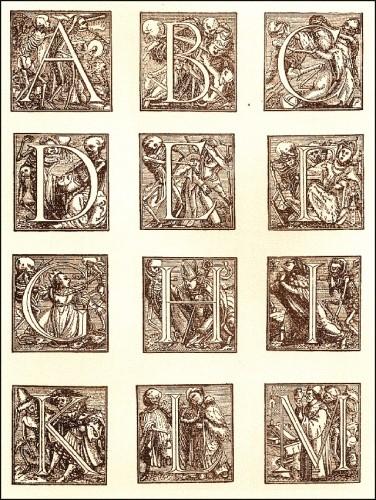 Les cahiers de l'articho, graphisme, illiustration, Massin, alphabet, abécédaire, Matt Konture, yassine, Gwénola Carrère, danse macabre