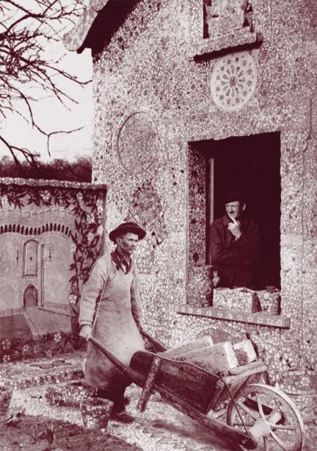 Facteur Cheval, picassiette, Rotheneuf, photo-montage, carte postales,Laurent Jacquy, Cent regards pour le facteur Cheval