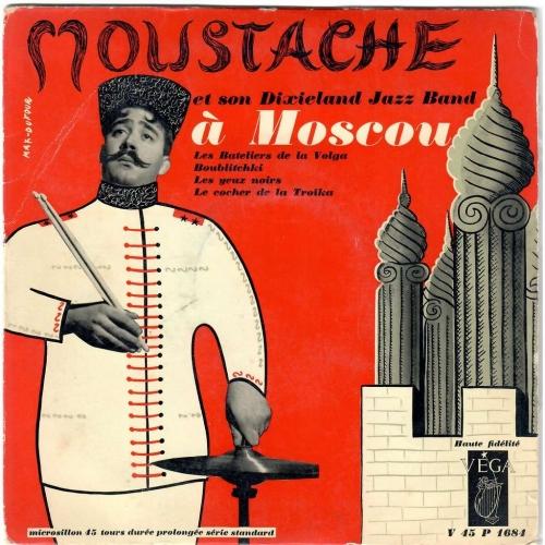 Moustache,musique,EP cover,jazz,graphisme,illustration, max dufour, jouineau-Bourduge
