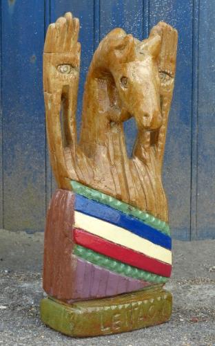 art populaire, amiens, art brut, art insolite, art naïf, josé leitao, sculpture bois, ailly sur somme, créateur singulier