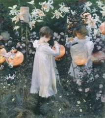 Carnation, Lily, Lily, Rose,john singer Sargent,peinture,hilary Faye,gif animé