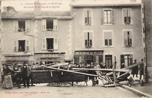 Cartes postales anciennes, barricades, révolution, la commune, barricades a Paris, Barcelone, Limoges, Alger, carte postale