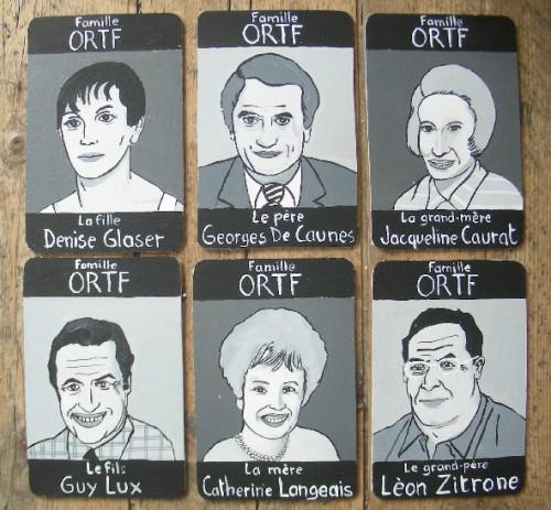 Peinture sur bois,Laurent Jacquy,jeu de 7 familles,portraits,100 familles,illustration,portraits de célébrité,Acrylique sur bois,humour,art singulier,art insolite,art naÏf,french outsider