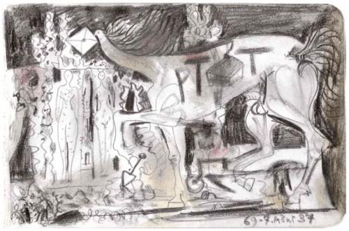 Picasso, Cent regards pour le facteur Cheval, Palais idéal, Facteur Cheval, Art brut, art singulier, peinture, dessin, collage, livre, édition, cartes postales