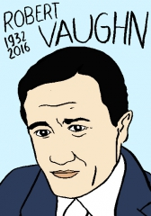 robert vaughn, dessin, portrait, laurent Jacquy
