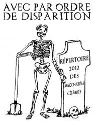 répertoire des macchabées célèbres 2012,illustration,dessin,portrait,laurent jacquy,les beaux dimanches