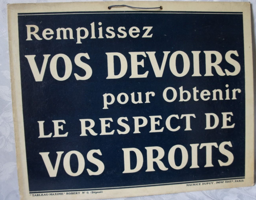 usine, communication,morale,condition de travail,brocante,carton publicitaire,collection