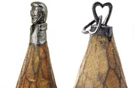 Dalton Ghetti, Ben Wilson, Miniature, Sculpture sur crayon de bois, Peintre sur chewing gum, sloan Howard, peinture street art, art singulier, art insolite