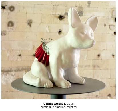 katarina Kudelova, art contemporain, Pétards, installation, sculpture