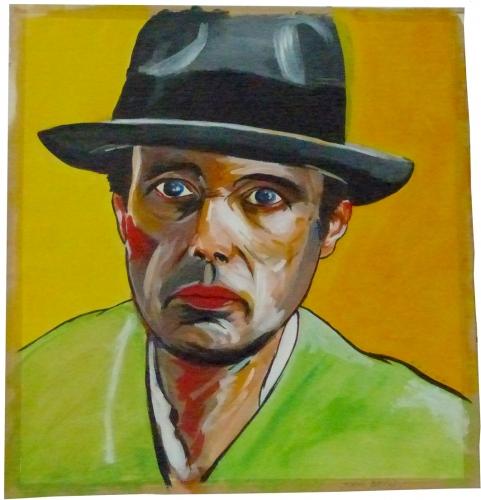 Joseph Beuys,peinture,acrylique,Roger Gliva,portrait