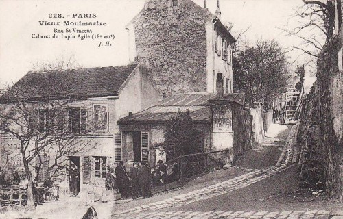 art naif, peintre du dimanche, Maigret, Maurice utrillo, Rue St Vincent, Lapin Agile
