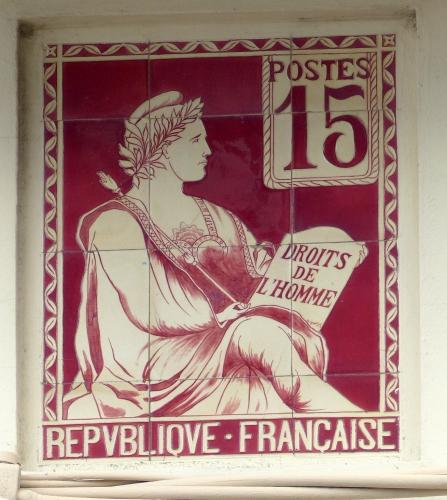 céramique, faïence,greber,ault,Somme,Picardie,plaque de villa,philatélie