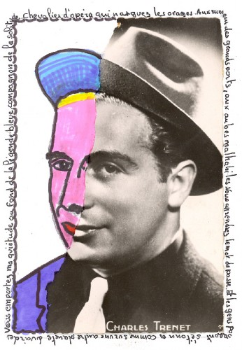 Répertoire des macchabées célèbres,Charles Trenet,dessin,portrait
