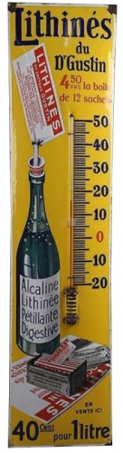 plaque émaillée, thermomètre émaillé,brocante,collection