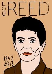 Lou reed,portrait,dessin,laurent jacquy,mort d'homme,répertoire des macchabées célèbres,art modeste,musique,velvet underground