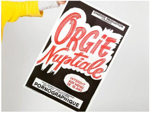 affiches,typographie,illustration,cinéma,art modeste,éditoon,pornographisme