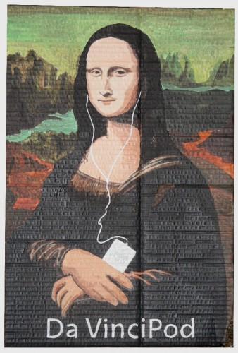 Mona lisa,De Vinci,joconda,Laurent jacquy,peinture,french outsider,joconde,joconde détournée,mona lisa,Da vinci code,Da Vincipod