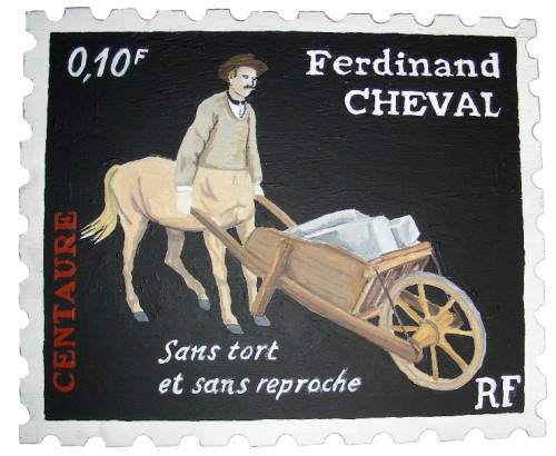 Cent regards pour le facteur Cheval,Laurent Jacquy,french outsider,Palais idéal, Facteur Cheval, Art brut, art singulier, peinture, dessin, collage, livre, édition, cartes postales