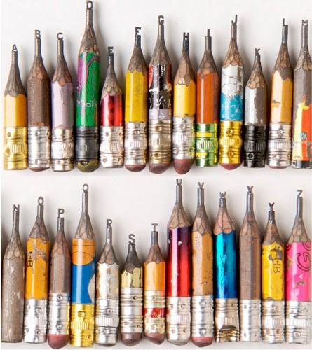 Dalton Ghetti, Ben Wilson, Miniature, Sculpture sur crayon de bois, Peintre sur chewing gum, sloan Howard, peinture street art, aart singulier, art insolite, alphabet, abécédaire