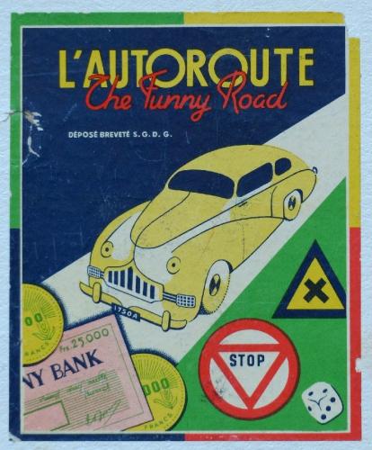 jeux et jouets,funny road,brocante,jeu de plateau,automobile