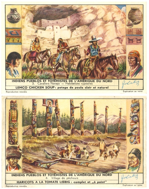 réclame,publicité ancienne,Liebig,indiens d'amérique,imagerie populaire