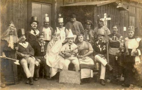 carte postale ancienne,photo,photographie inédite,réveillon,soldats,fêtes