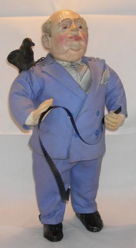 Alfred Hitchcock, Les oiseaux,Poupée,figurine,cinéma,brocante,