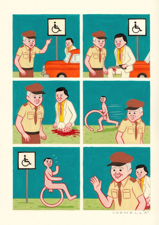 Joan Cornellà,illustrateur,illustration,humour,art modeste,Bd