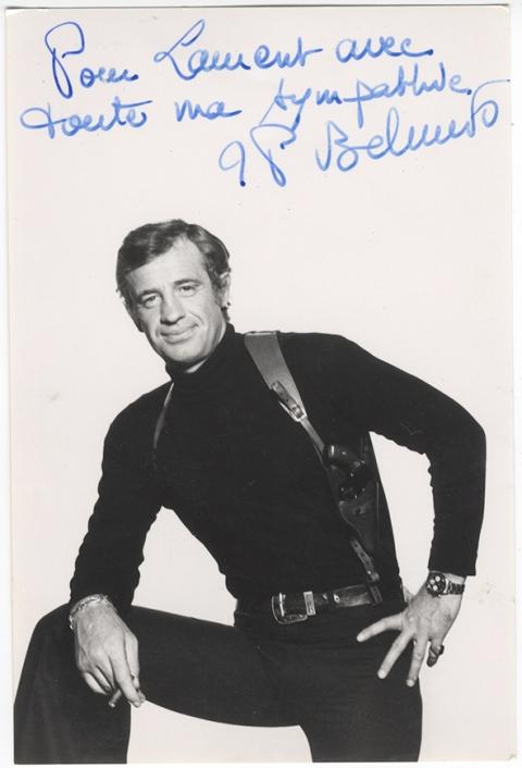 Jean-Paul Belmondo,cinéma,cartes postales anciennes,peinture Laurent Jacquy