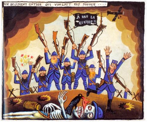 Gérard Lattier, peinture,Le voyage en peinture,art brut,art populaire,mutins de 1917,grandue guerre,14-18