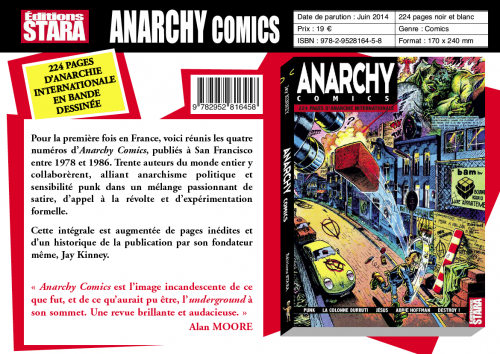 Anarchy comics,éditions stara,graphisme,illustration,BD,comic,zine,underground,papiers nickelés,Yves Frémion