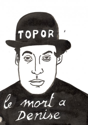 Répertoire des macchabées célèbres,Roland Topor,dessin,portrait