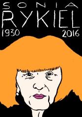 sonia rykiel, dessin, portrait, laurent Jacquy