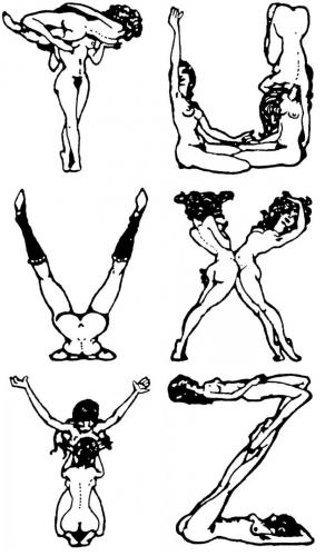 alphabet érotique,illustration,pascin,imagerie gay,lesbianisme
