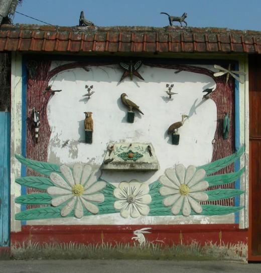 art singulier, architecture, mur peint