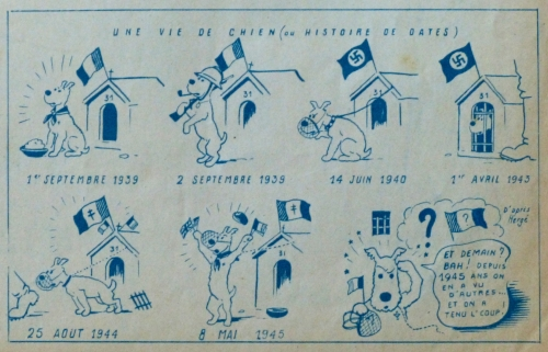 tintin,Hergé,Coeurs Vaillants,BD,illustration,ww2,presse ancienne
