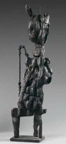 Chomo,sculpture,bois brulé,art singulier,art brut