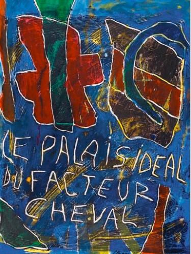 Daniel Humair,Cent regards pour le facteur Cheval, Palais idéal, Facteur Cheval, Art brut, art singulier, peinture, dessin, collage, livre, édition, cartes postales