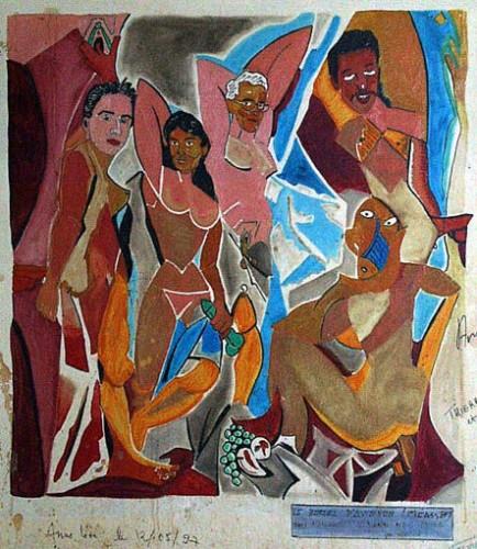 Fresque,peinture murale,graffiti,art singulier,art insolite, salle de garde,paillardise,érotisme,carabin,peinture