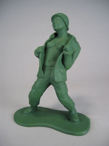 Cory Marc, green army men,détournement, jouet, soldats de plastique,art modeste, cabotins, figurines