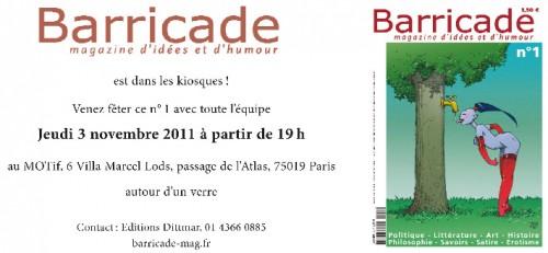 Presse, revue Barricade, Yves Frémion, dessin, illustration