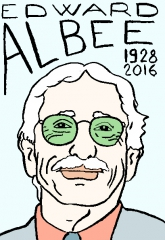 edward albee,dessin, portrait, laurent Jacquy