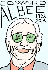 edward albee,dessin, portrait, laurent Jacquy