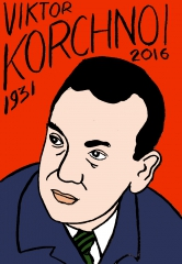 Viktor Korchnoï,dessin, portrait, laurent Jacquy