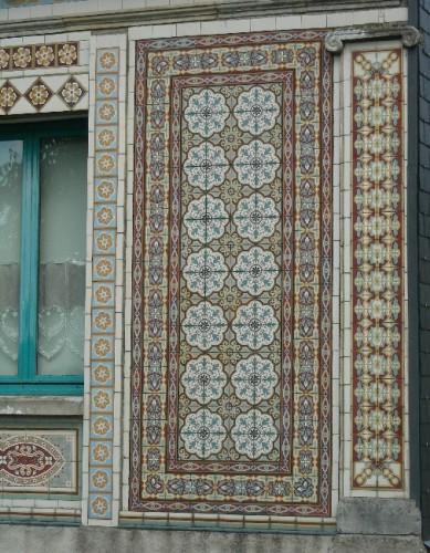 carrelage ciment, architecture, façade décorée, art populaire, architecture insolite