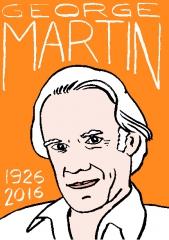 George Martin, dessin, portrait, laurent Jacquy