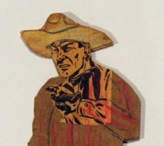 Harry Young,art brut,art singulier,art modeste,cowboy,carton,packer schopf gallery,dessin,collages