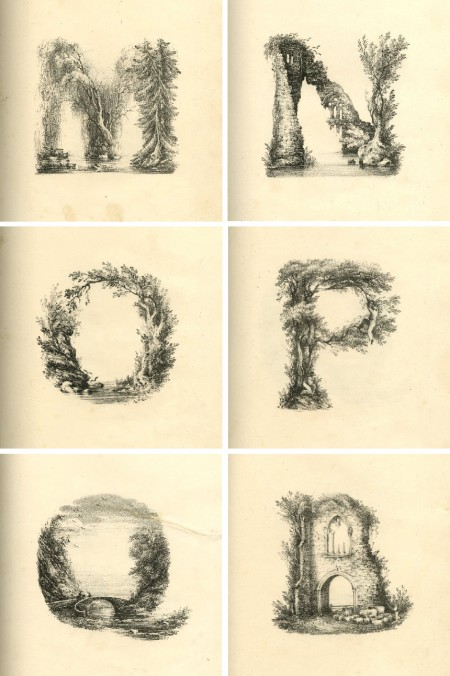 Alphabet,abécédaire,illustration,Charles Joseph Hullmandel,alphabet animé