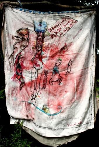 Caroline Dahyot,art singulier,art insolite,création franche,Ault,Somme,poupées,tapisserie,dessin